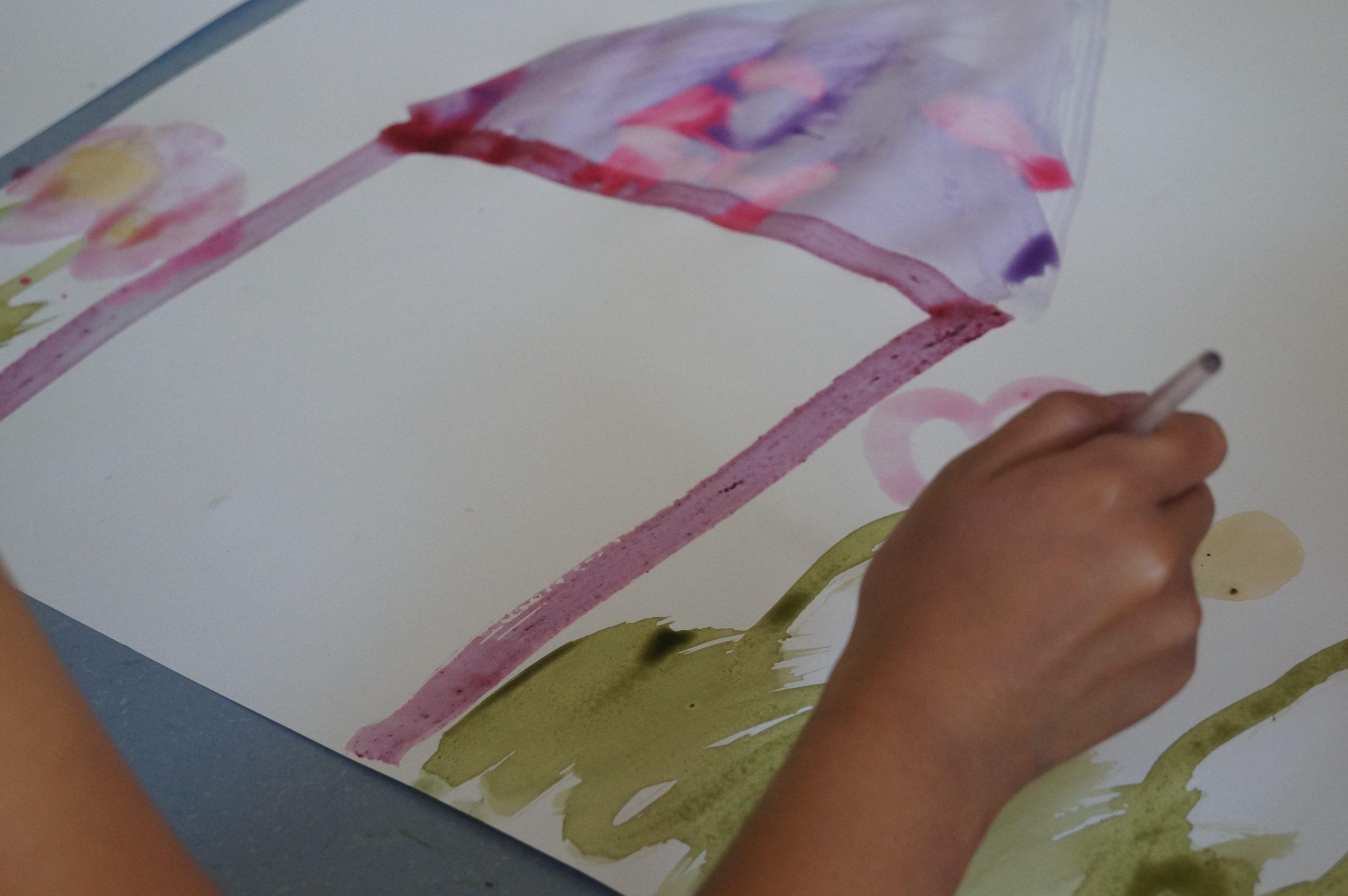 dessin enfant avec encre végétale