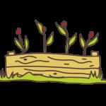 dessin bac bois avec fleur