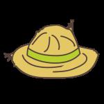 dessin chapeau paille
