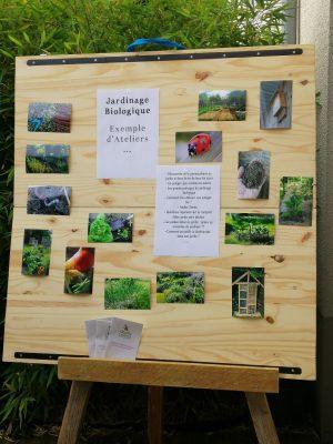 tableau avec liste ateliers jardinage